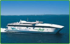 The Irish Ferries Swift Service between Dublin and Holyhead