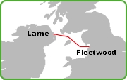 Fleetwood Larne Route