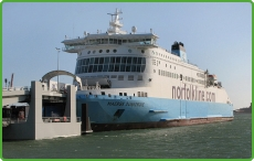 Norfolkline serve England between the ports of Dover and Dunkerque in France